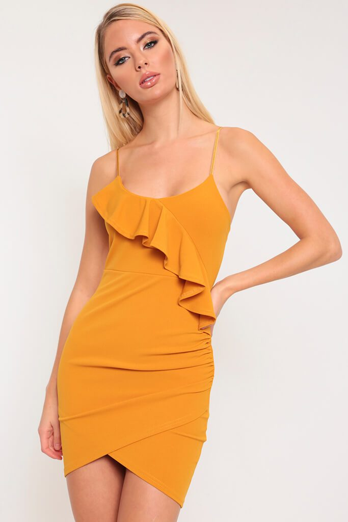 Mustard Frill Cami Dress view 2