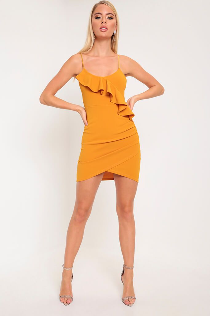 Mustard Frill Cami Dress view main view