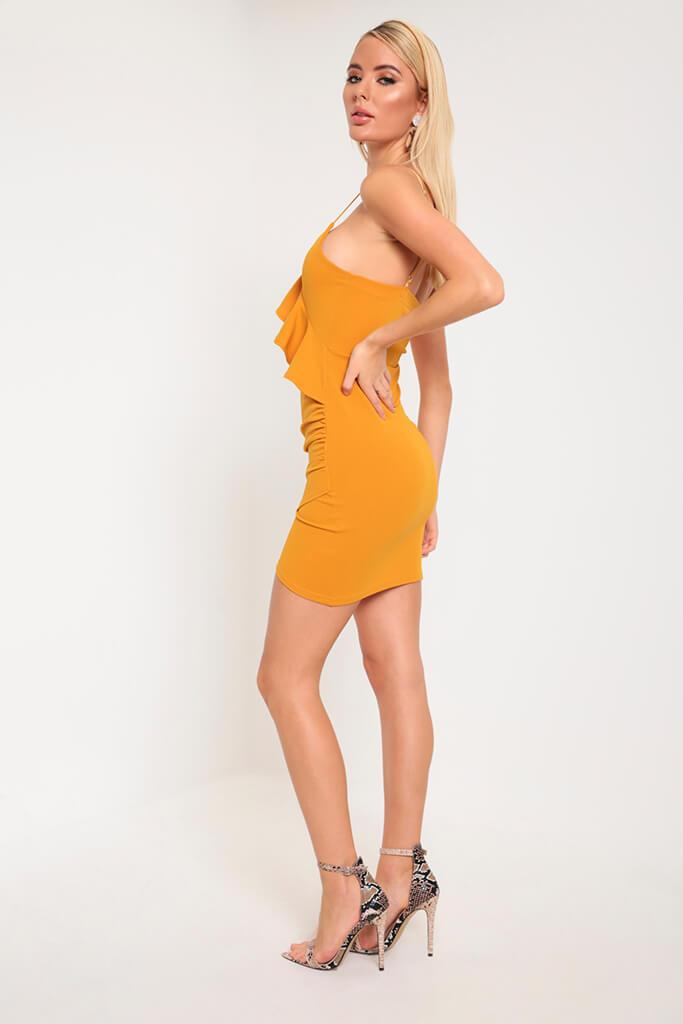 Mustard Frill Cami Dress view 3