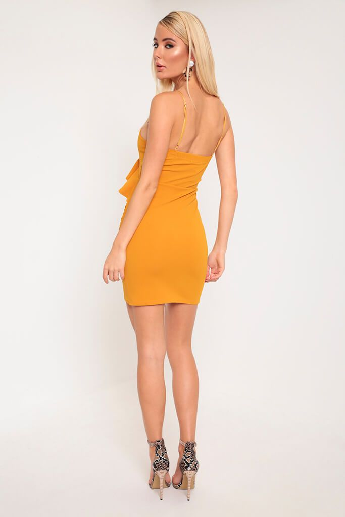Mustard Frill Cami Dress view 5