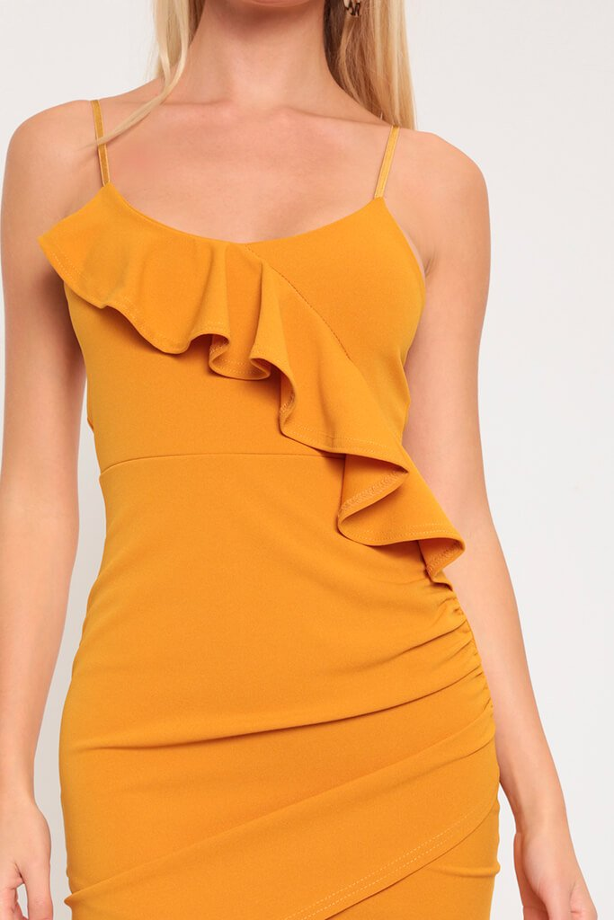 Mustard Frill Cami Dress view 4