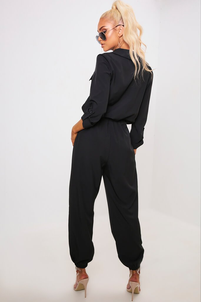 Black Utility Jumpsuit view 5