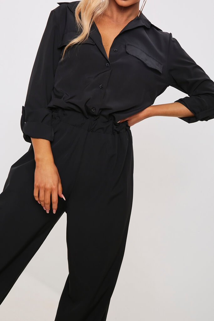 Black Utility Jumpsuit view 4