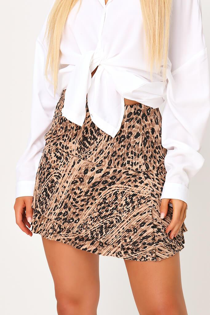 Leopard Print Fit & Flare Mini Skirt view 4