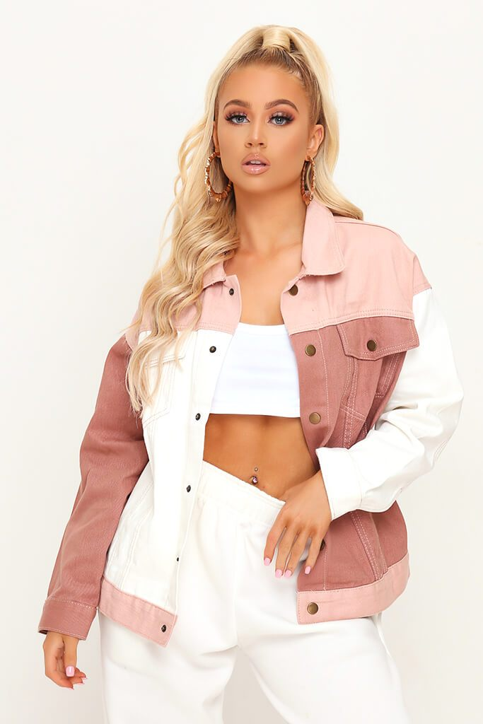 Nude Colourblock Denim Jacket