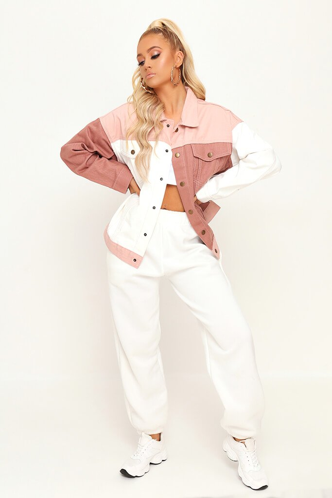 Nude Colourblock Denim Jacket view 2