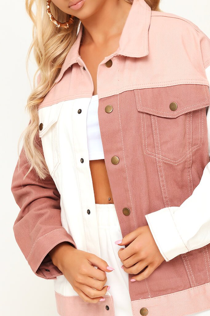 Nude Colourblock Denim Jacket view 4