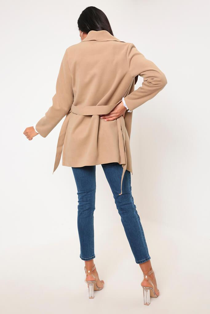 Camel Waterfall Cropped Duster view 5