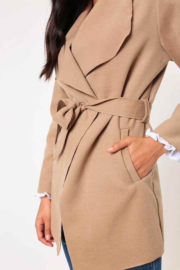 Camel Waterfall Cropped Duster view 3