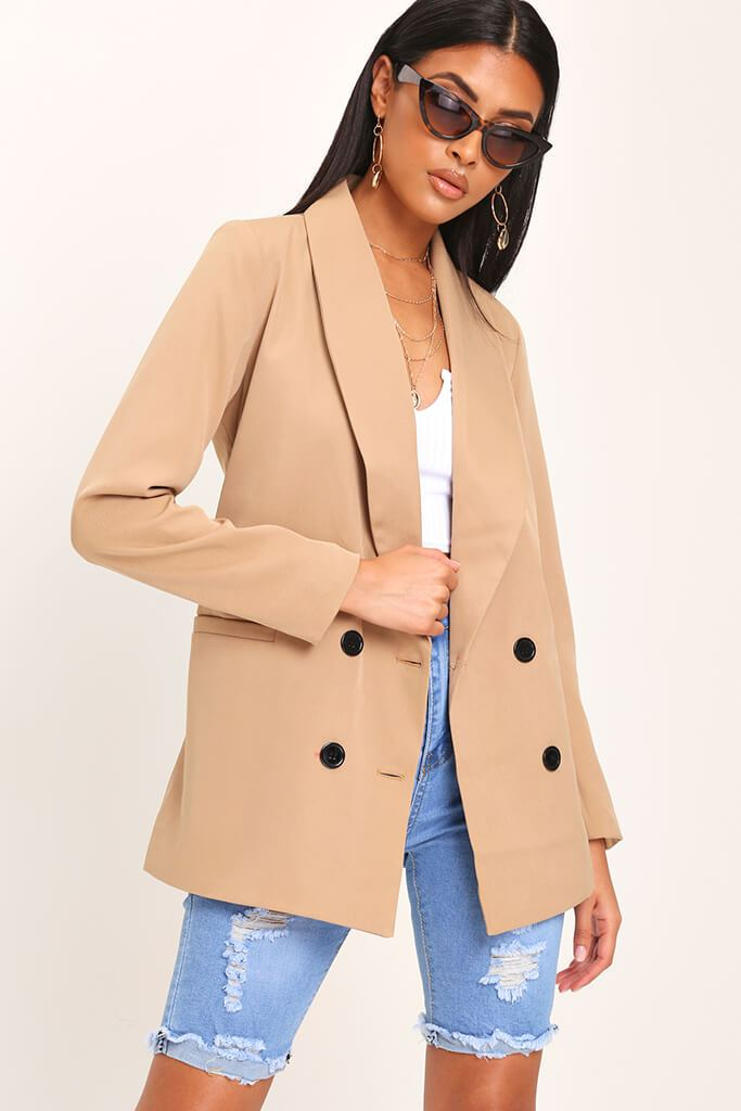Camel Oversized Fitted Blazer view 2