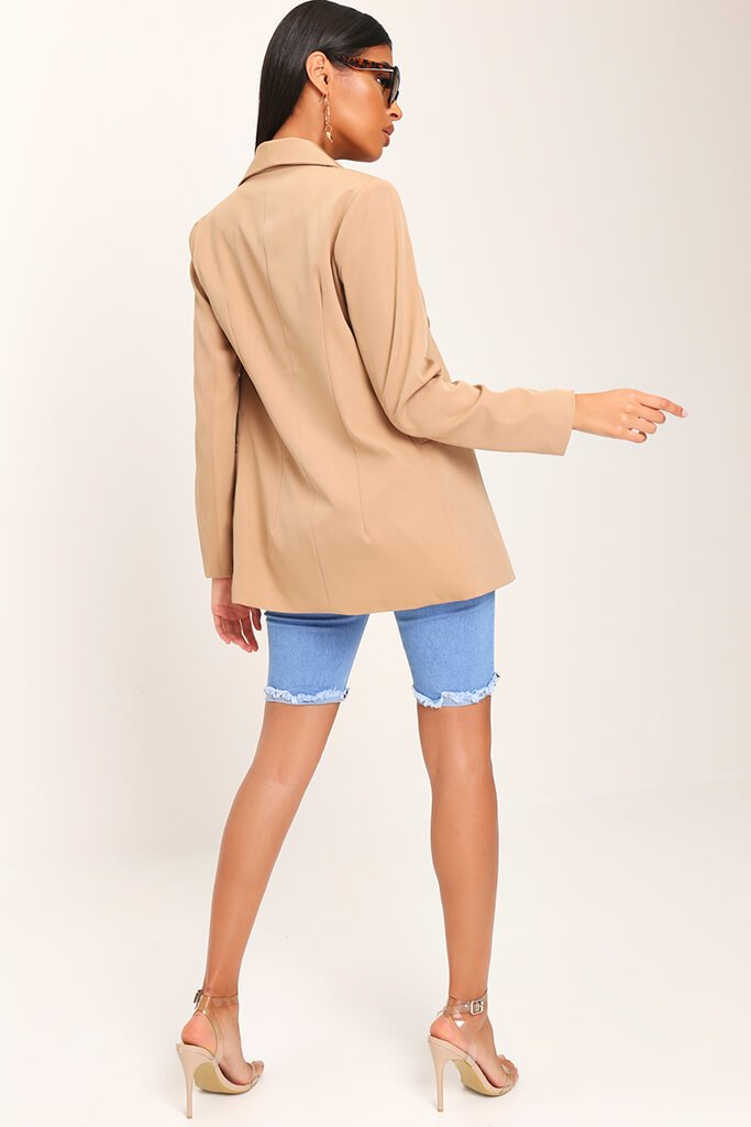 Camel Oversized Fitted Blazer