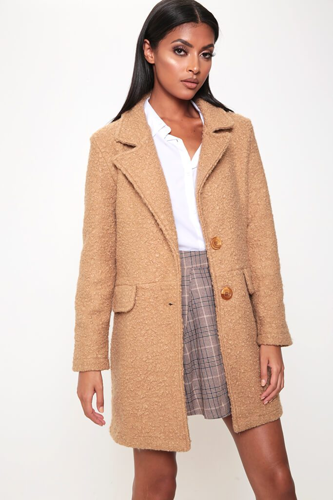 Camel Teddy Borg Coat