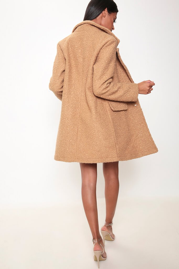 Camel Teddy Borg Coat view 5