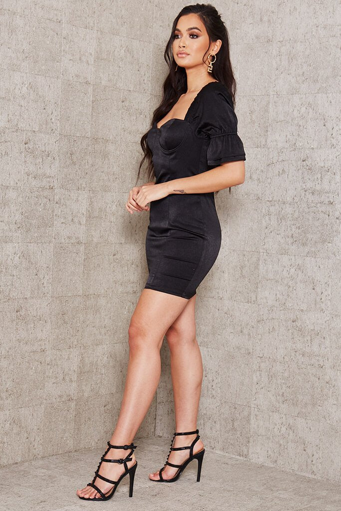 Women/'s Plus Size Limited Collection Black Milkmaid Bodycon Dress