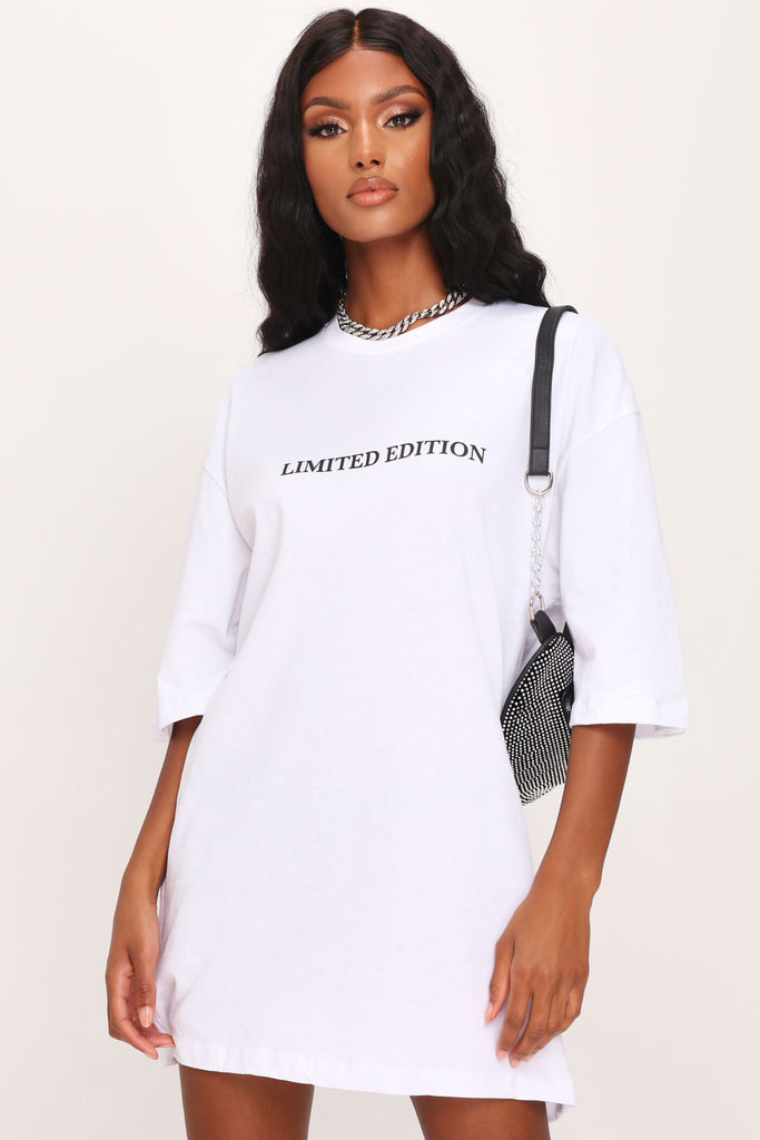 White Limited Edition Oversized T-Shirt Dress