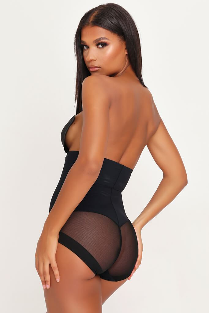 Black Shapewear High Waisted Control Pants view 4