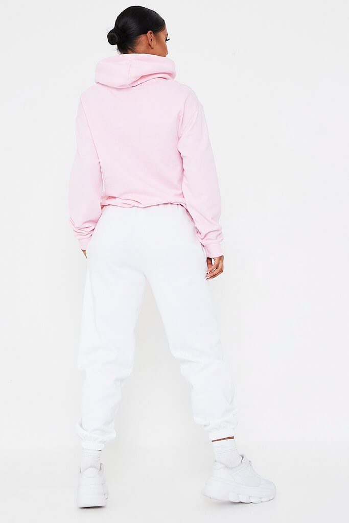 Baby Pink Baby Girl Flames Oversized Hoodie view 5