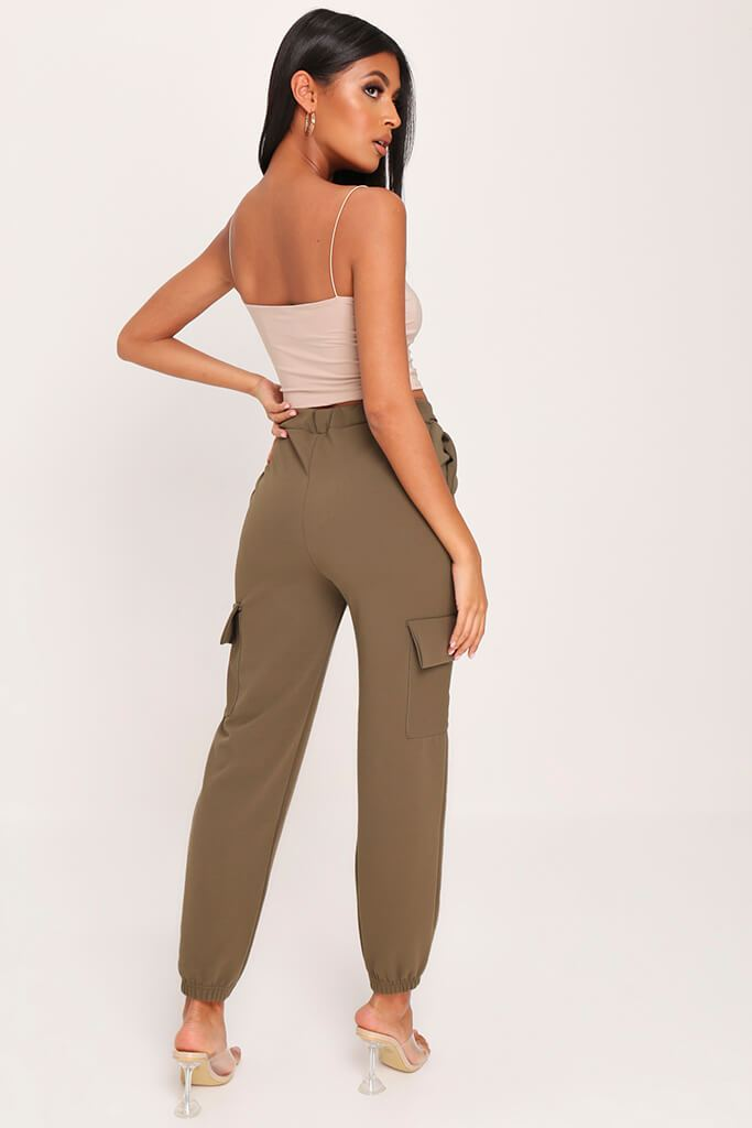 Sand Double Layer Square Neck Crop Top view 5