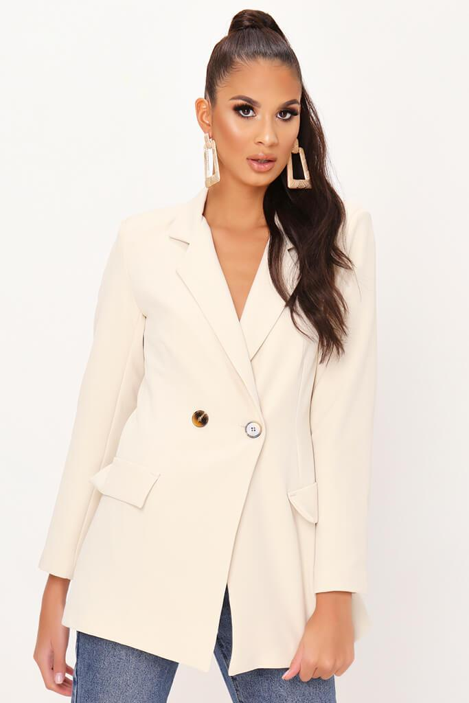 Cream Double Button Blazer