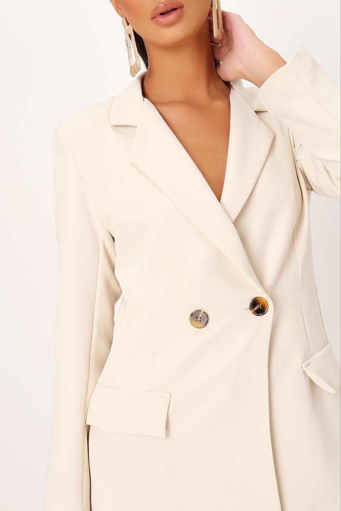 Cream Double Button Blazer view 4