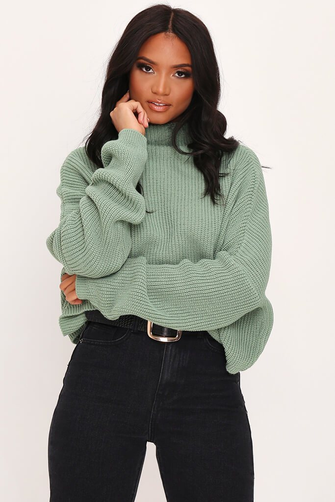 Sage Slouchy Jumper view main view