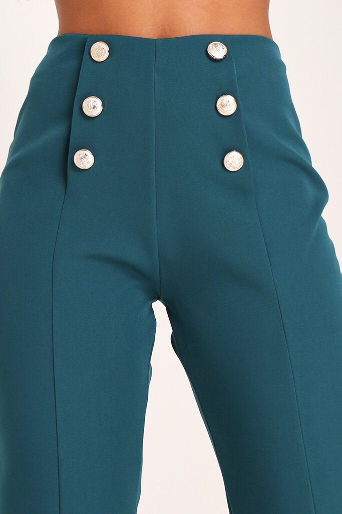 Emerald Green Skinny Trousers view 4