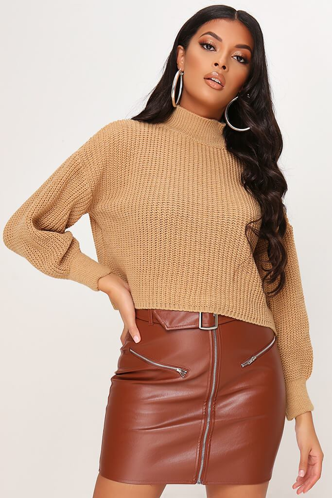 Camel Oversized Jumper view main view