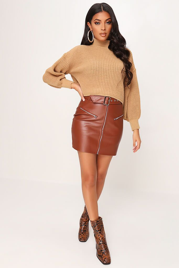 Camel Oversized Jumper view 2