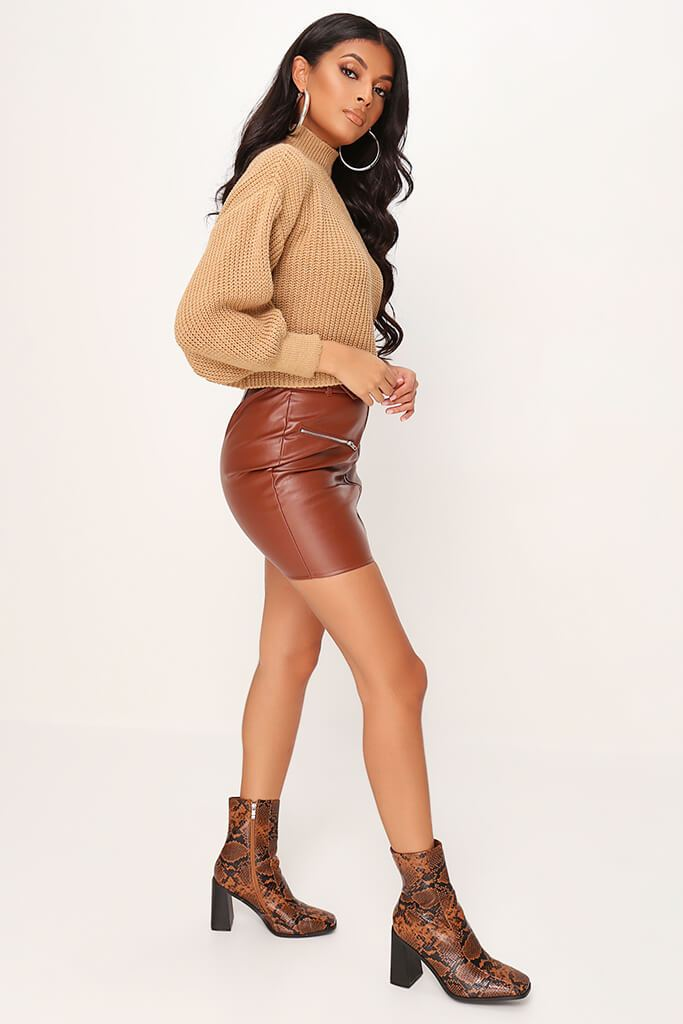 Camel Oversized Jumper view 3