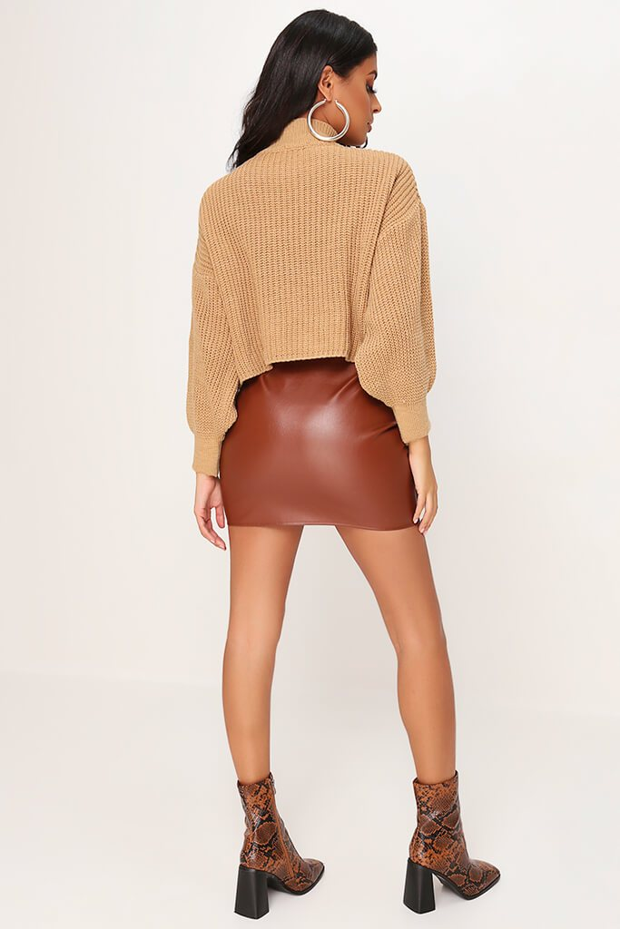 Camel Oversized Jumper view 4