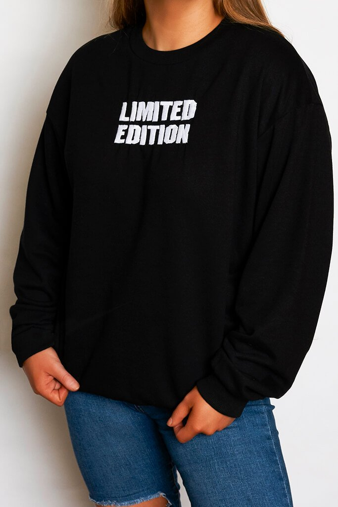 Black Limited Edition Oversized Sweatshirt