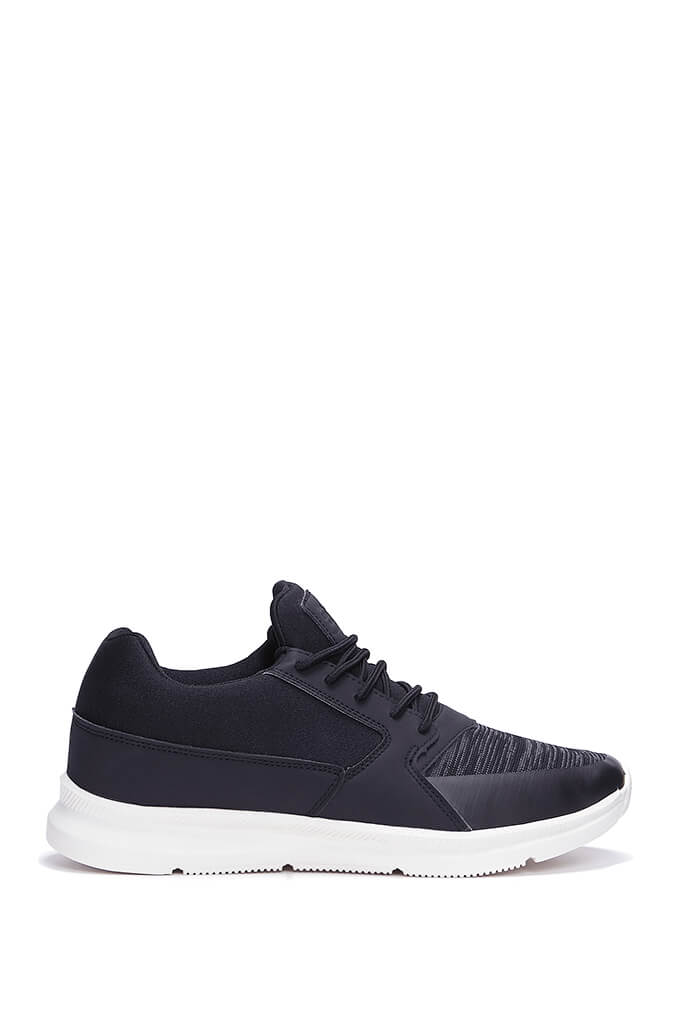 Black Mens Pedeira Trainers view 3