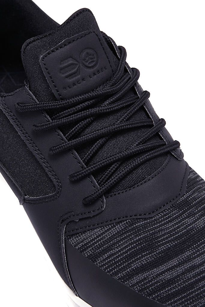 Black Mens Pedeira Trainers view 4