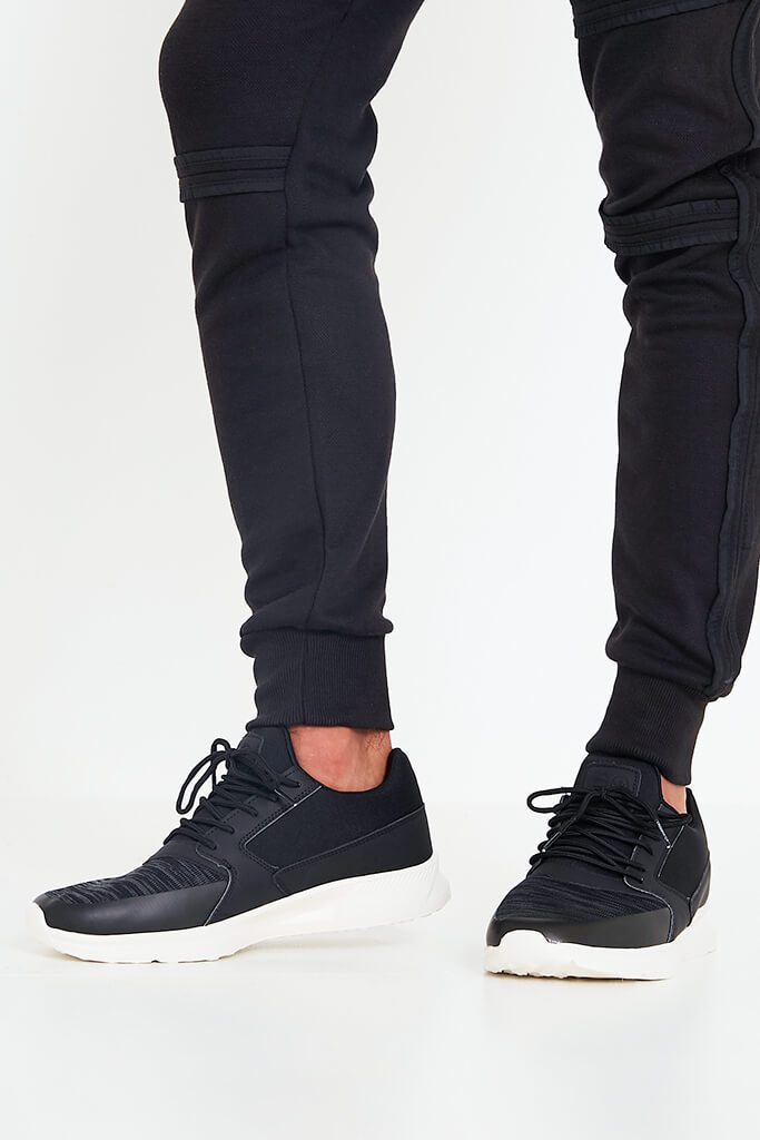 Black Mens Pedeira Trainers