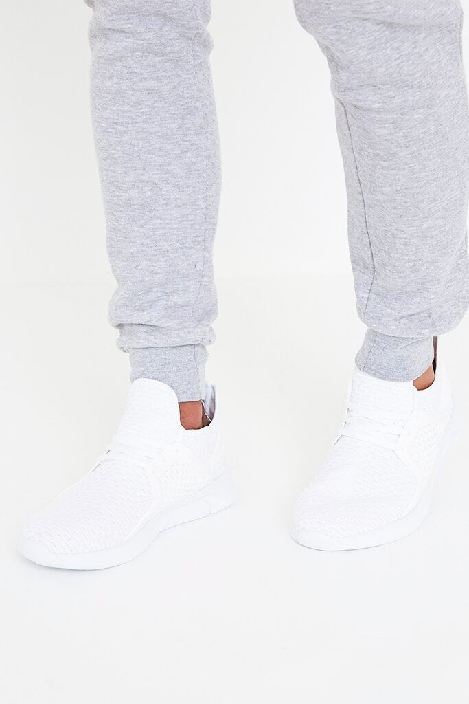 White Men's Stonerock Panelled Trainers view main view