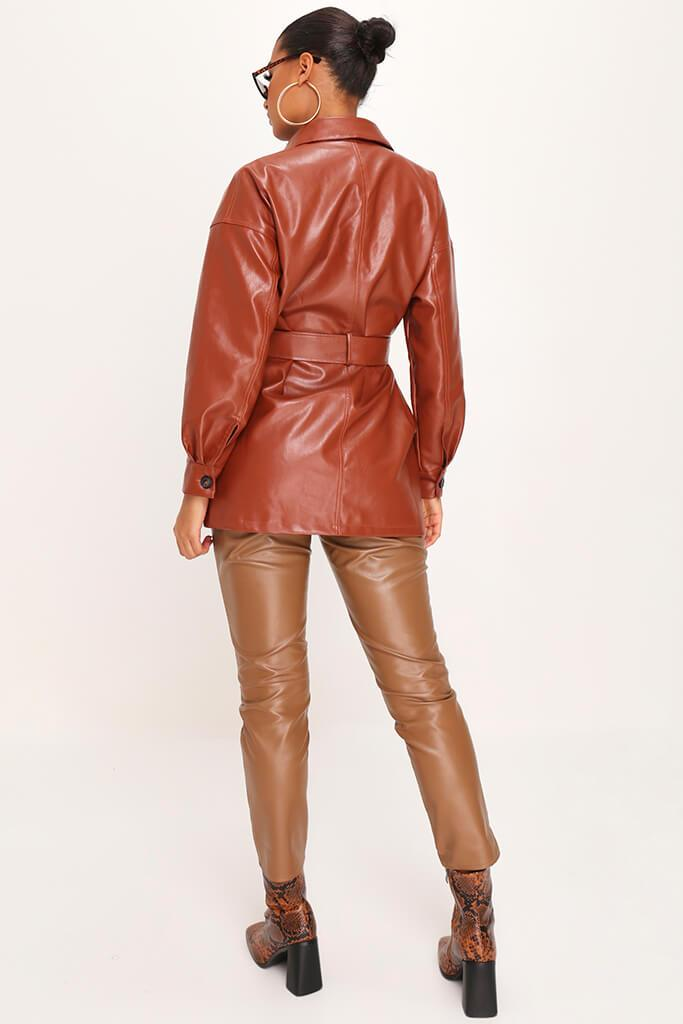 IA00376611-18-faux-leather-utility-jacket-mid-brown-jla007943 view 5