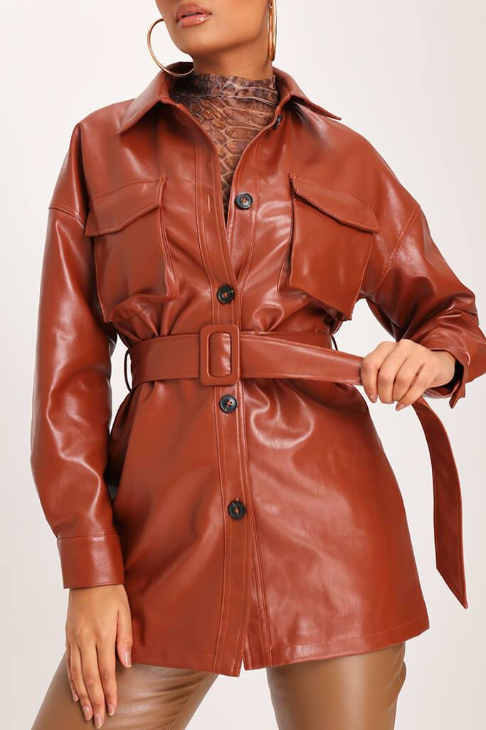 IA00376611-10-faux-leather-utility-jacket-mid-brown-jla007943 view 4