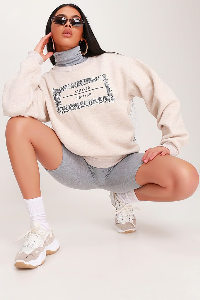 Cream Limited Edition Grey Snake Sweatshirt view main view