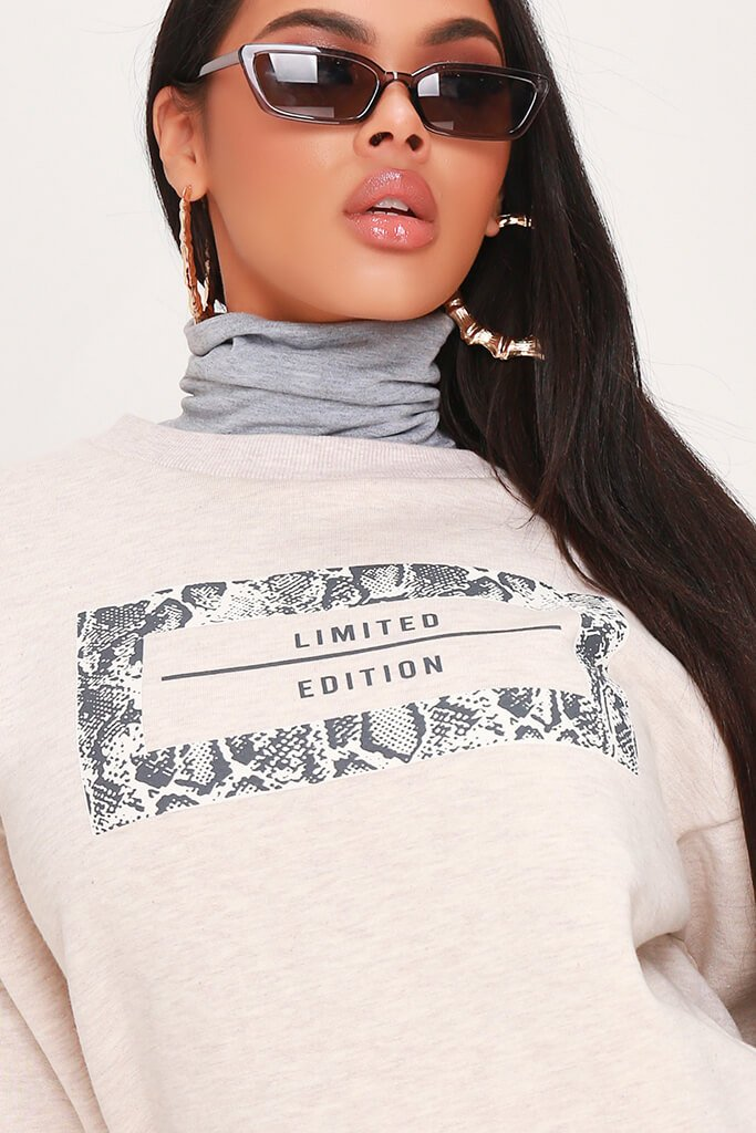 Cream Limited Edition Grey Snake Sweatshirt view 4