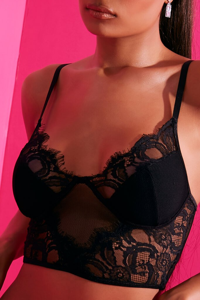 Black Diamond Lace Bralet view 4