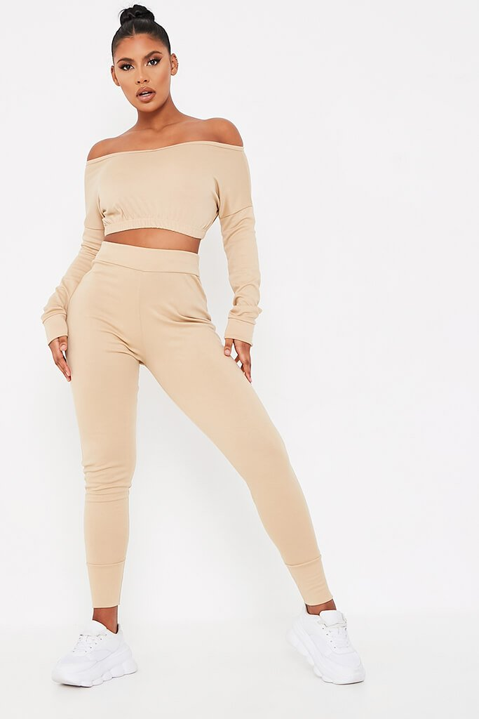Stone Long Sleeve V-Neck Loungewear Set