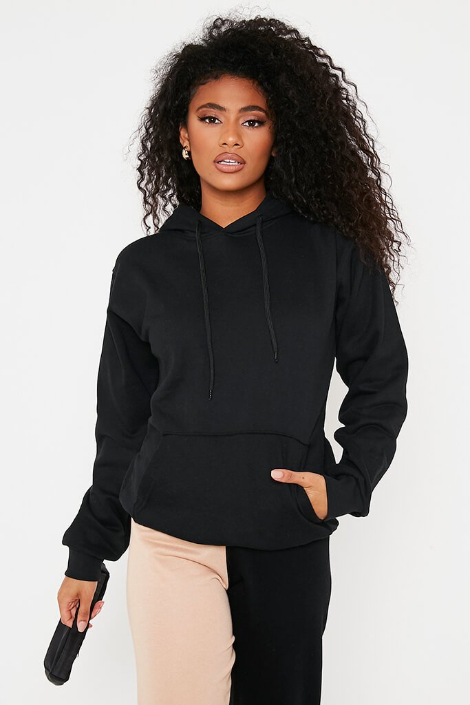 Black Basic Hoodie view main view