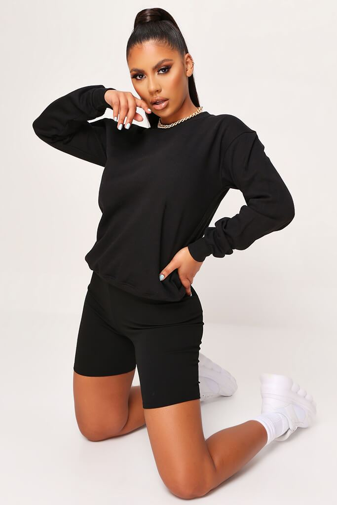 Black Basic Sweat