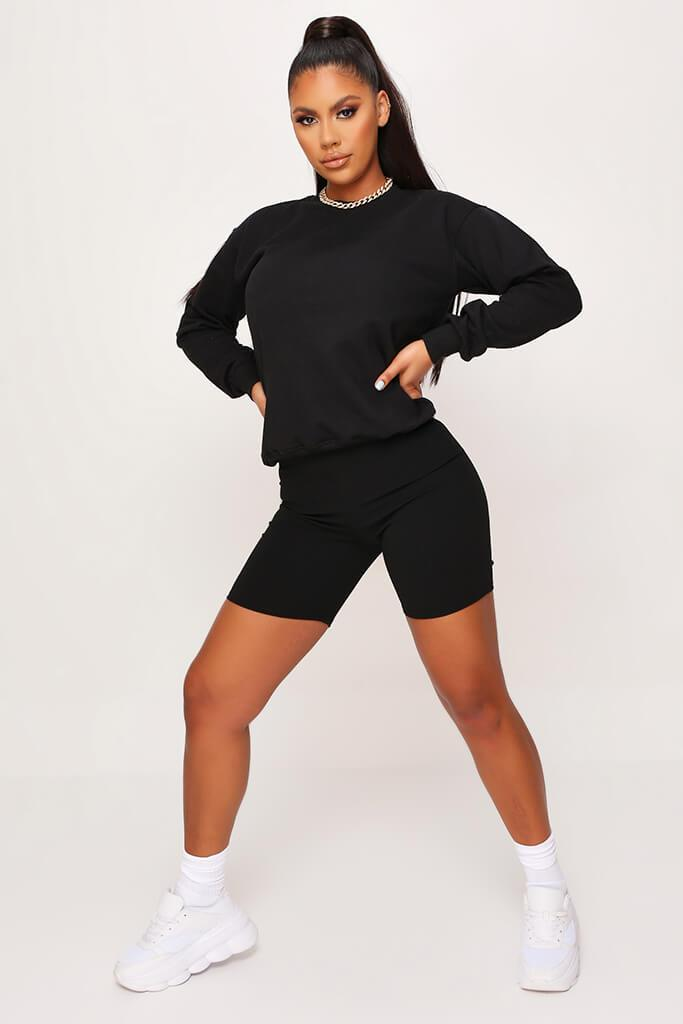 Black Basic Sweat view 2