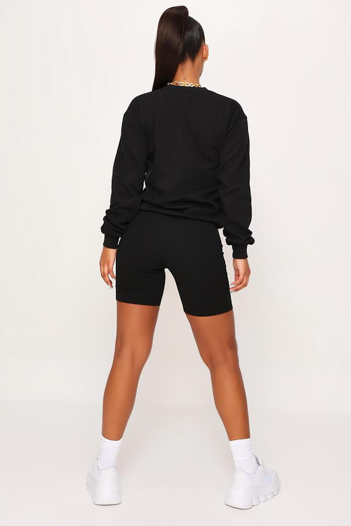 Black Basic Sweat view 5