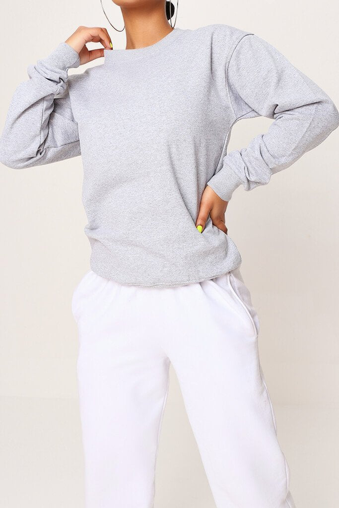 Grey Basic Sweat view 4