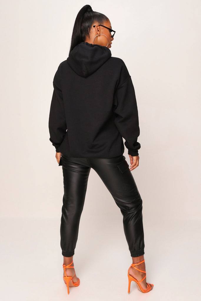 Black Baby Girl Flames Hoodie view 4