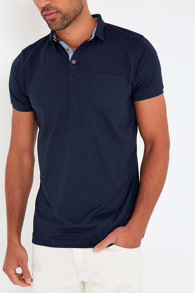 Navy Mens Short Sleeve T-Shirt view 4