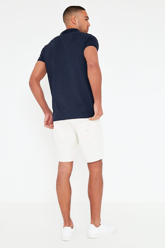 Navy Mens Short Sleeve T-Shirt view 5