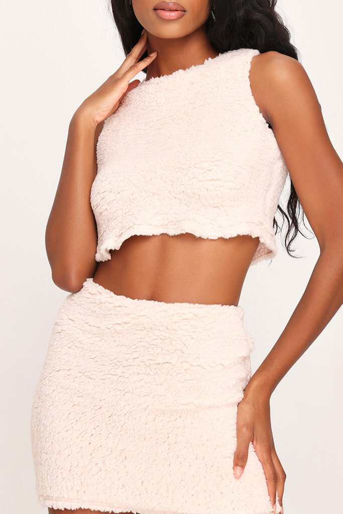 White Borg Sleeveless Crop Top view 5